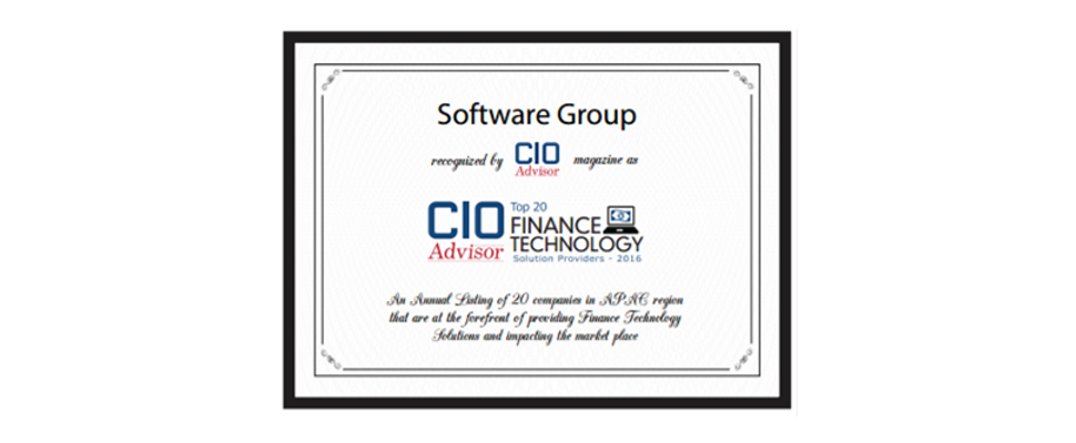 Software Group CIO Advisor