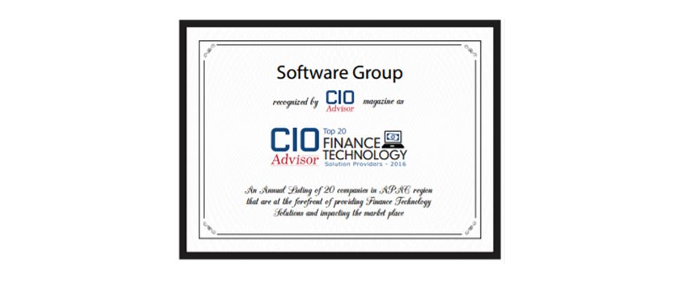 Software Group CIO Advisor