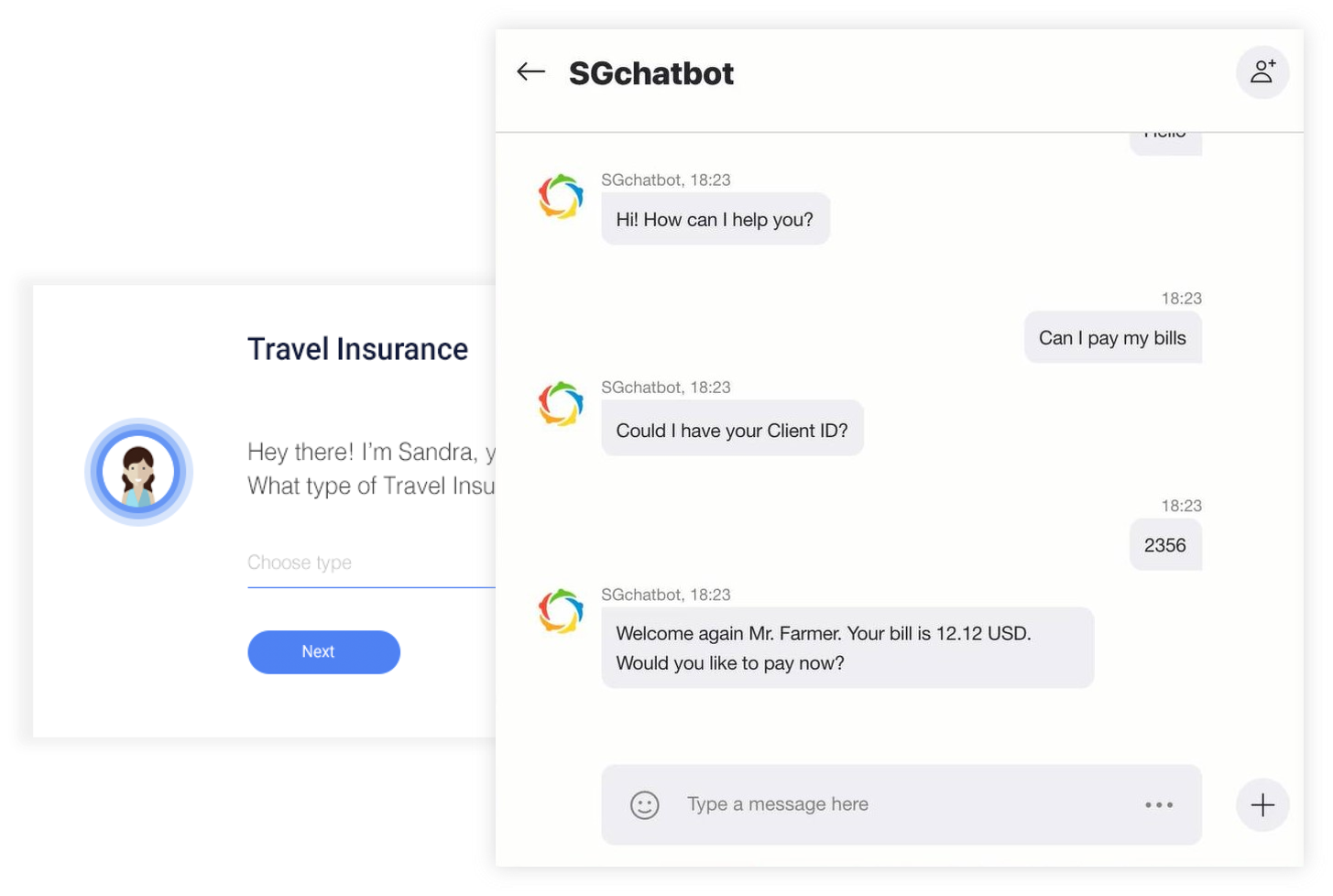 chatbot solution for banking software group